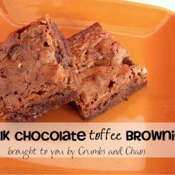 Milk Chocolate Toffee Brownies