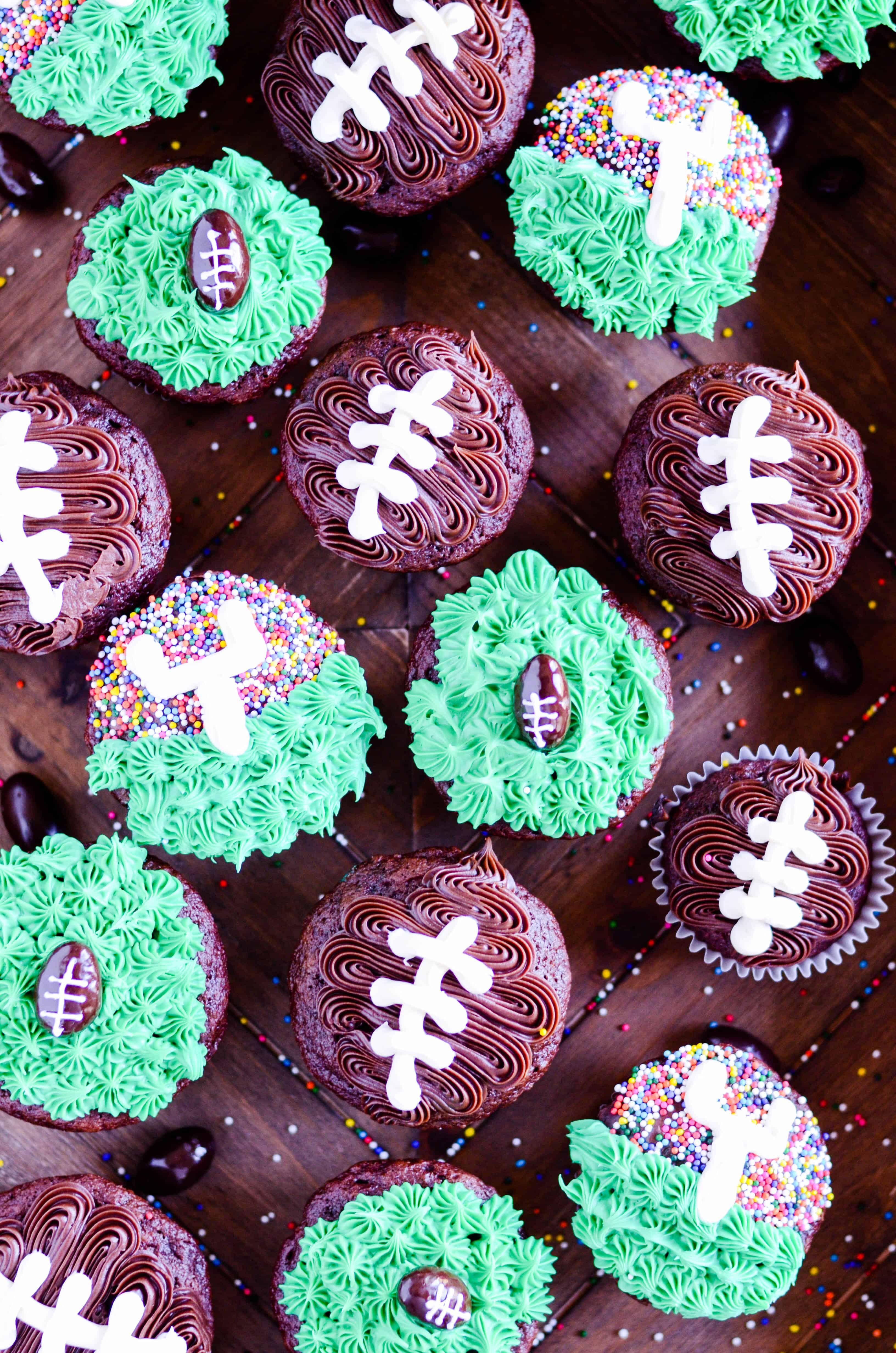 Three Easy Football Cupcakes