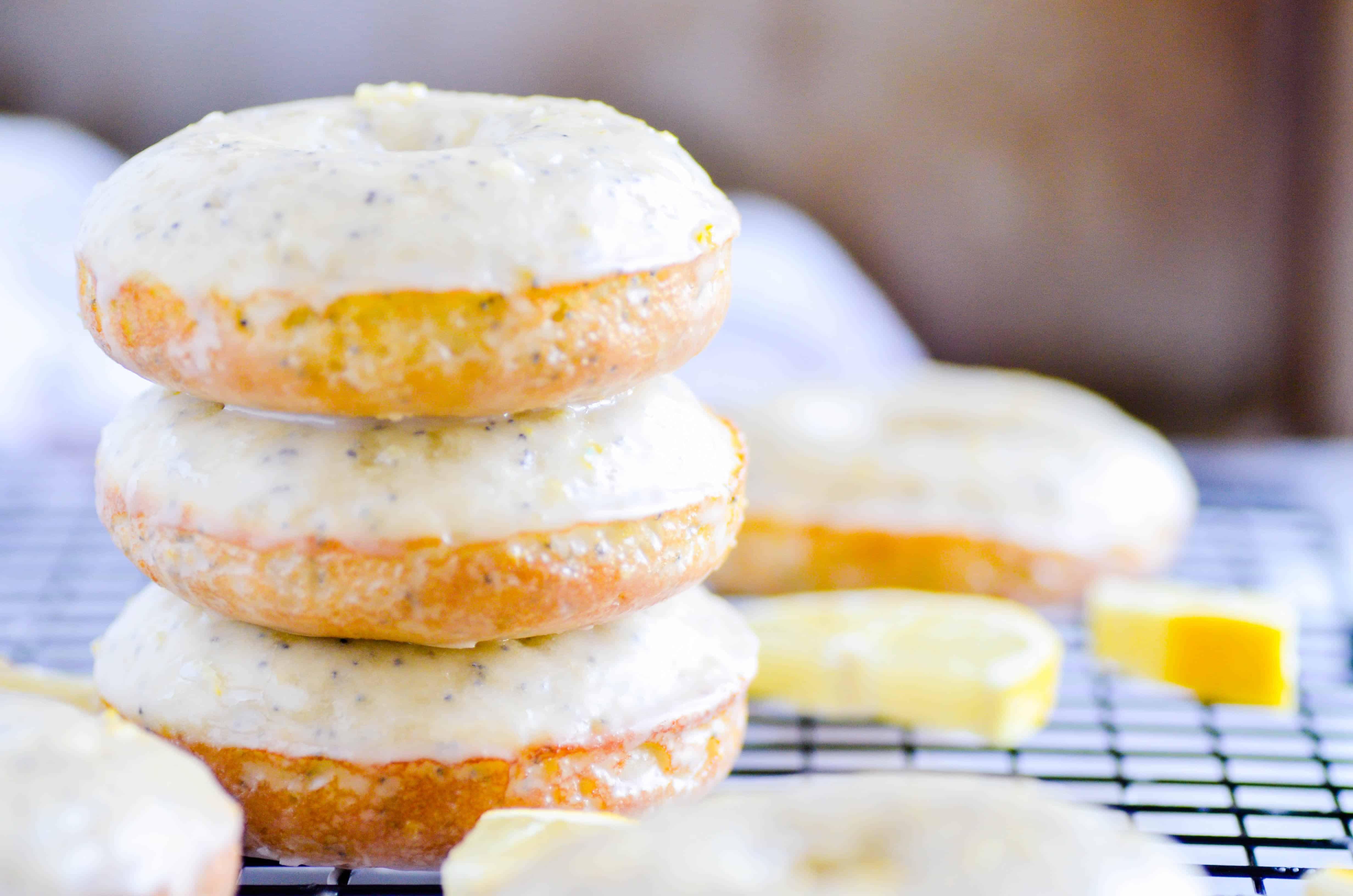 Baked Lemon Poppyseed Donuts