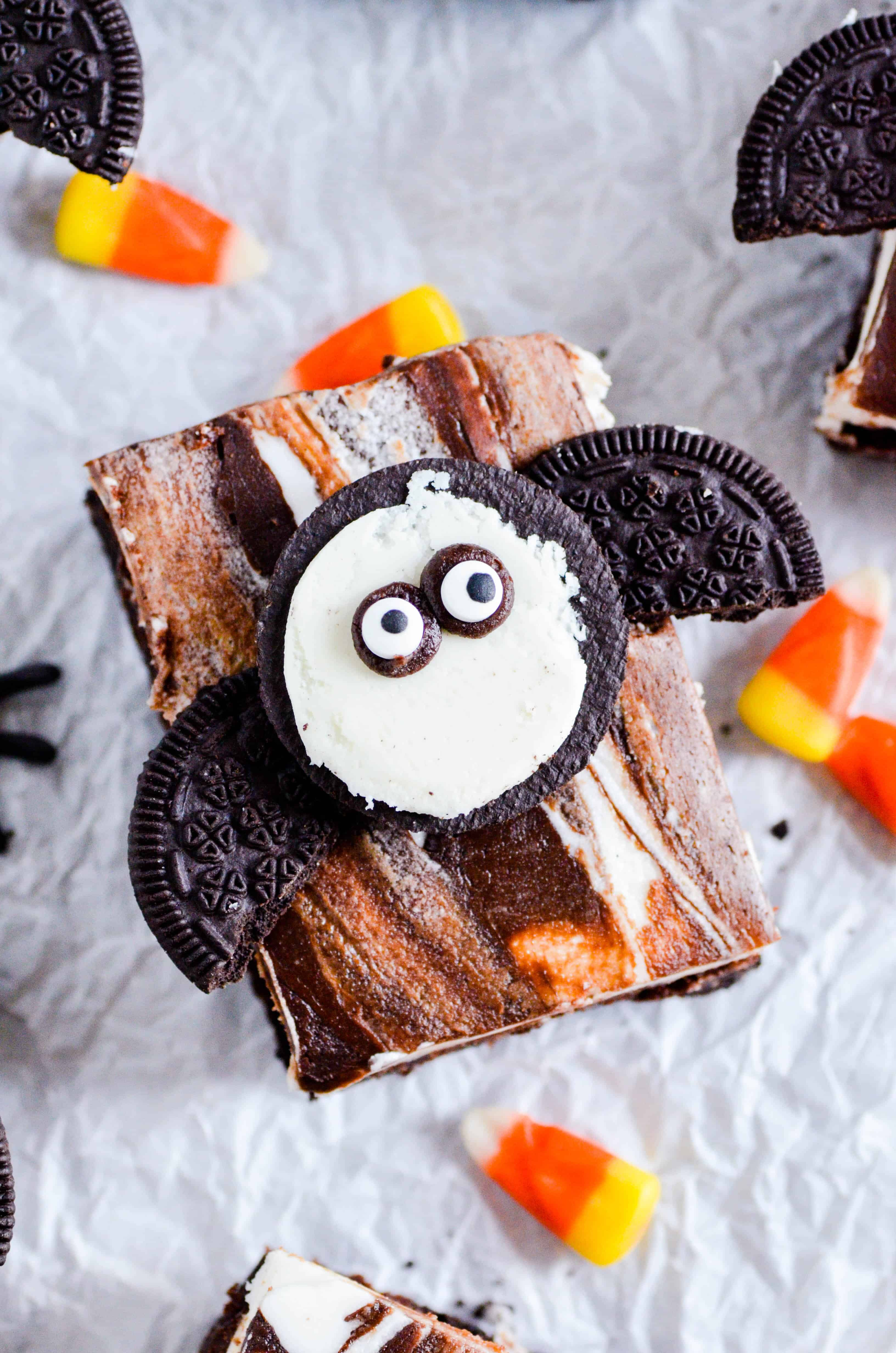 Spooky Bat Oreo Brownies
