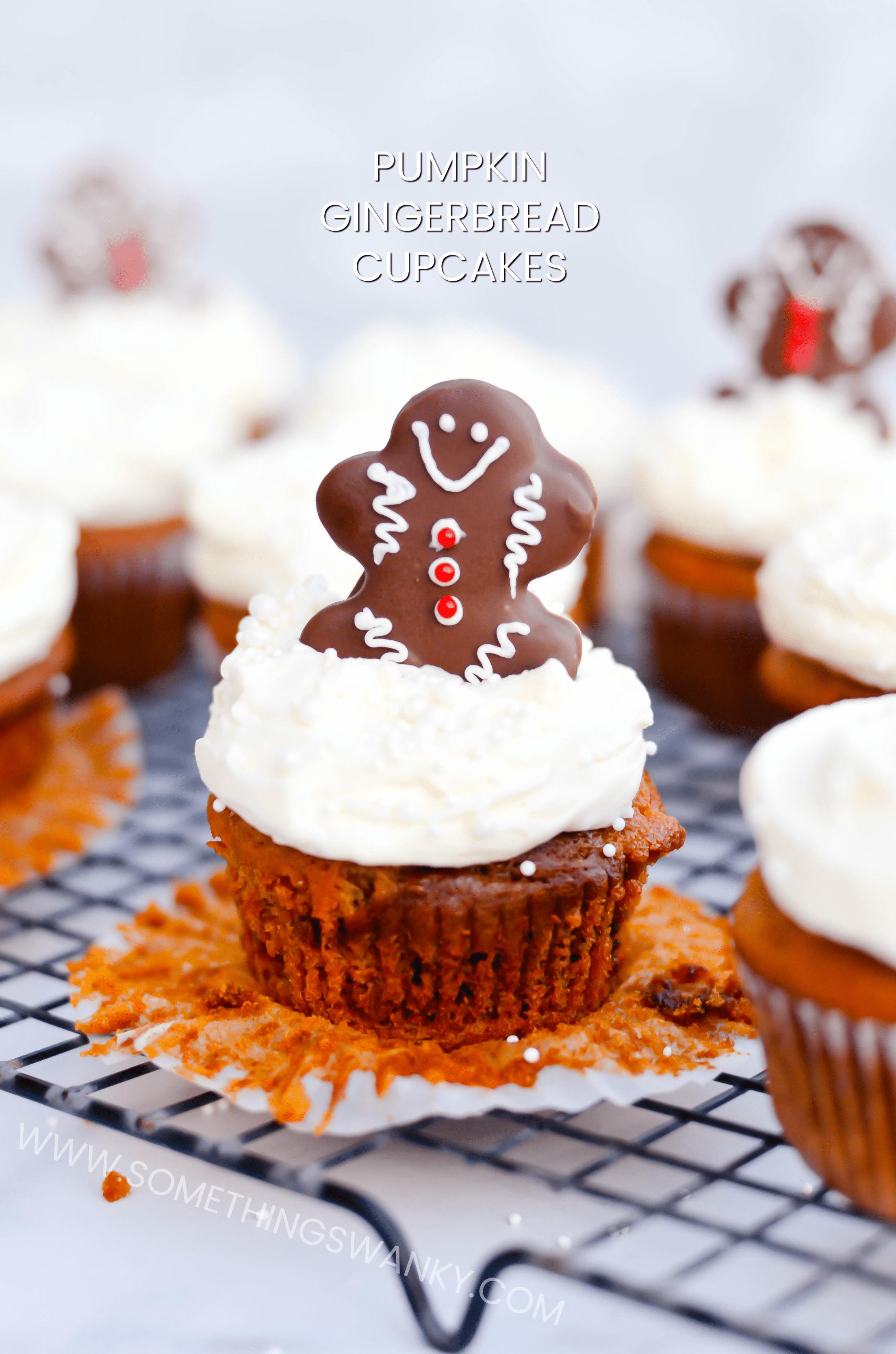 Pumpkin Gingerbread Cupcakes