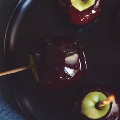 I make these Black Candy Apples every year for our church Halloween party!