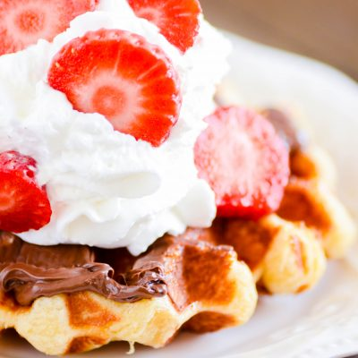 Are you obsessed with Liege Waffles from food trucks like Waffle Love and and Wafels & Dinges? Now you can make these melt-in-your-mouth waffles at home!