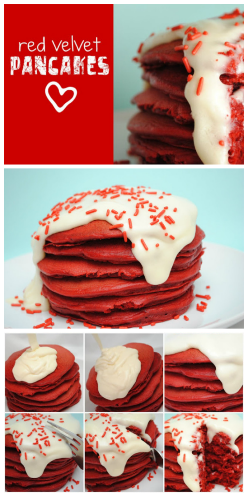 cream cheese pancakes red velvet pancakes with cream cheese topping ...
