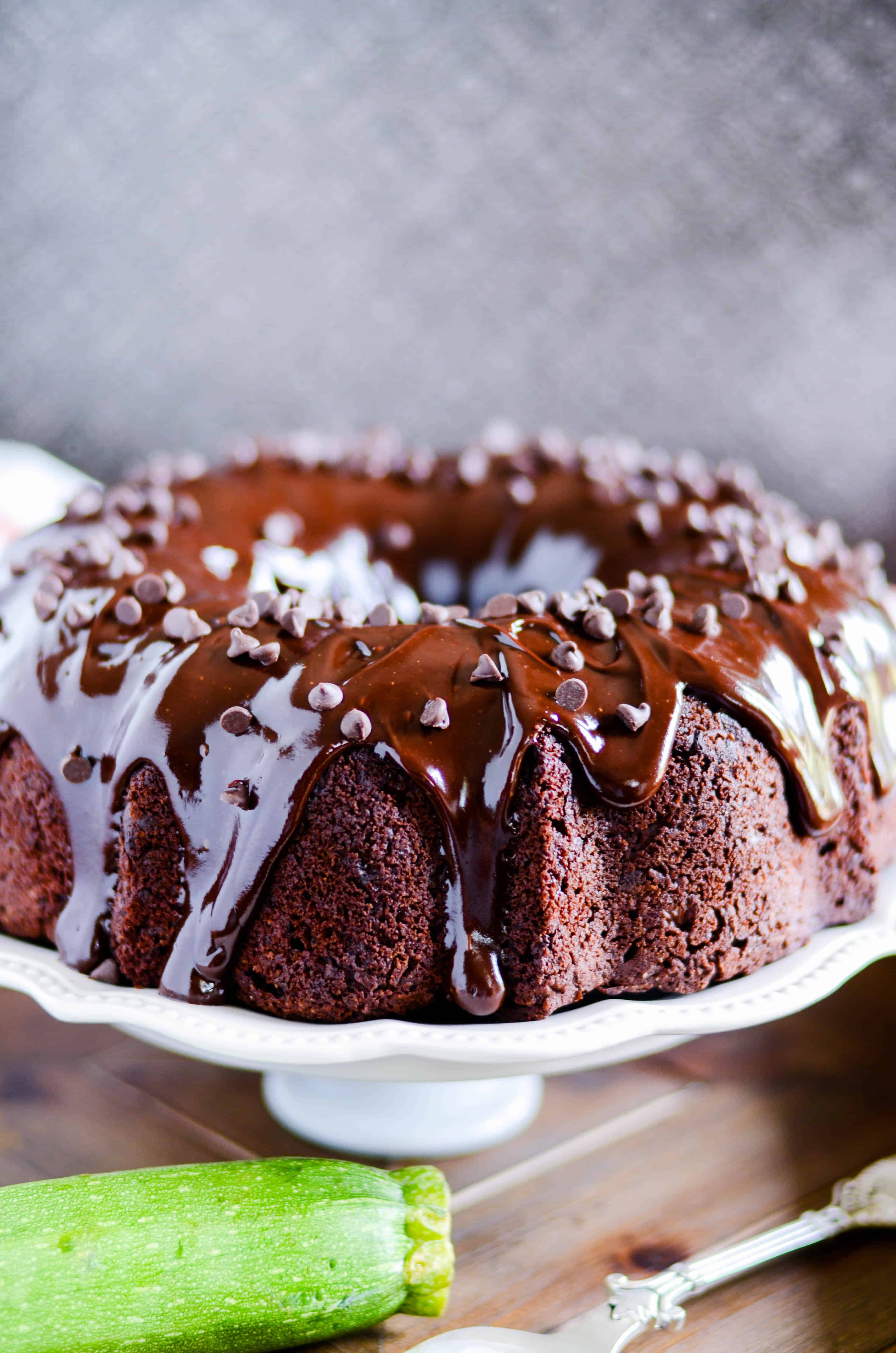 Death By Chocolate Zucchini Cake - Something Swanky