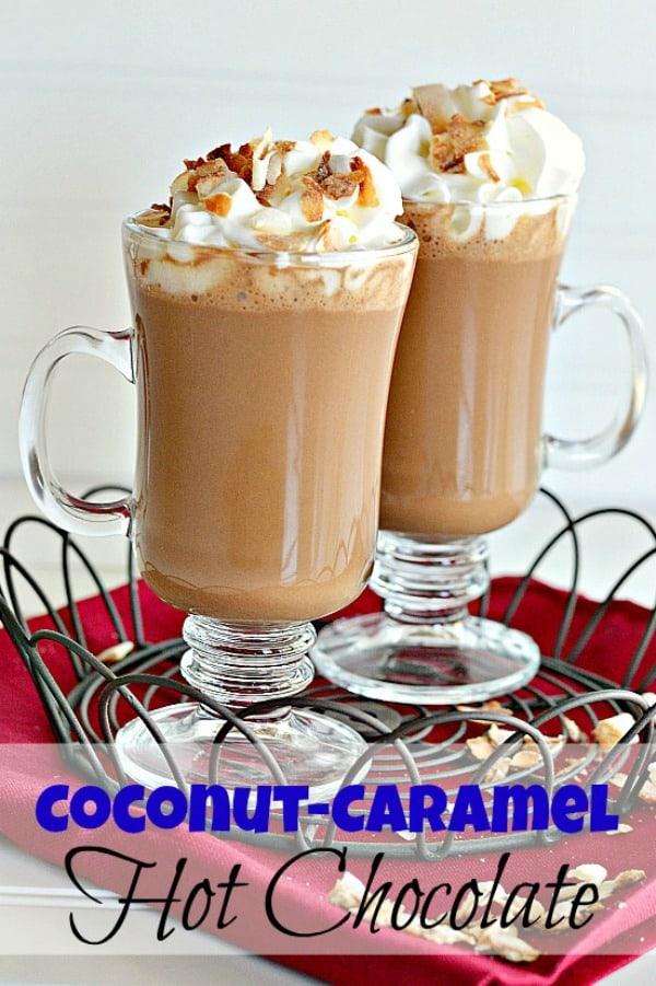Coconut Caramel Hot Chocolate