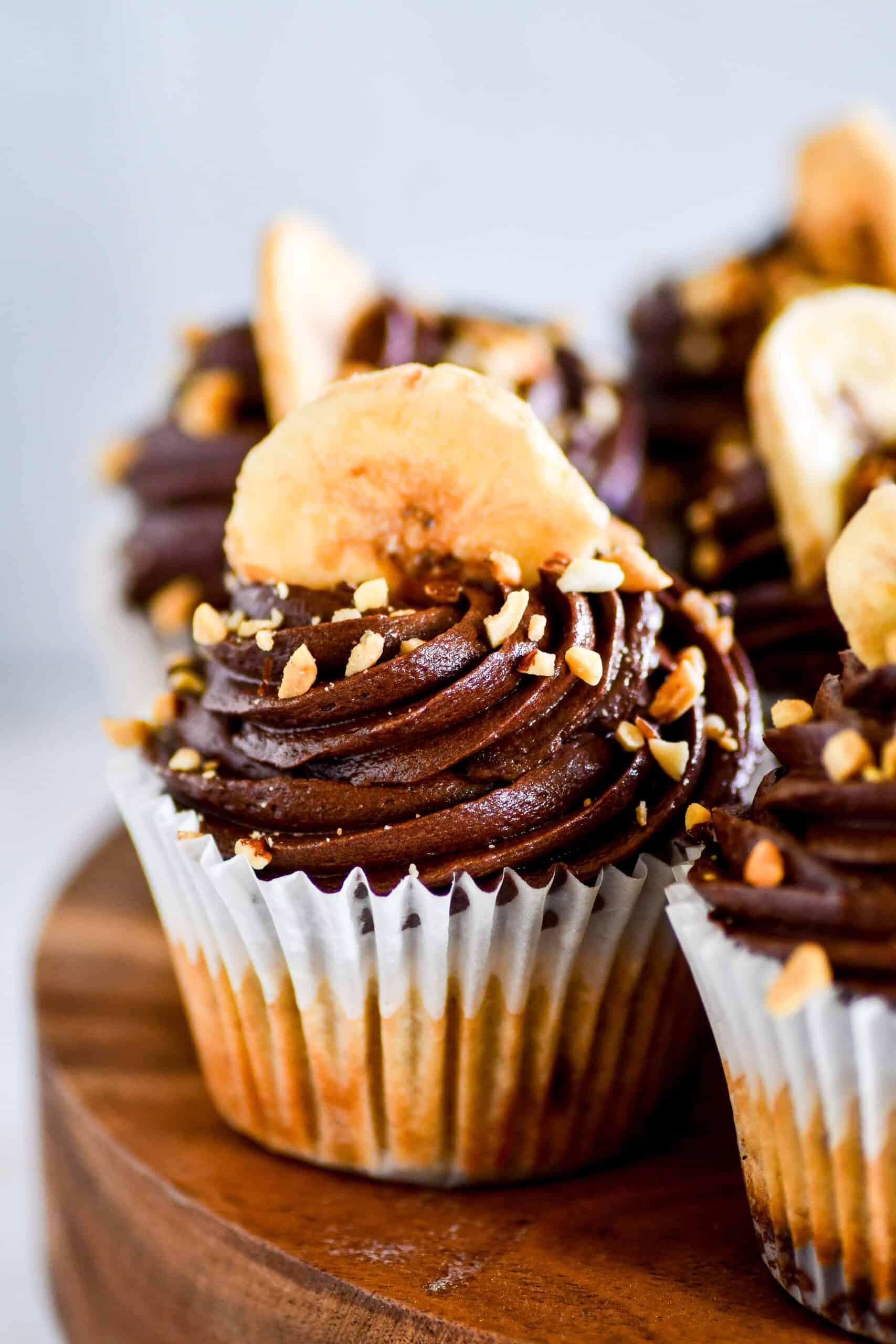 Peanut Butter Cup Banana Cupcakes Recipe