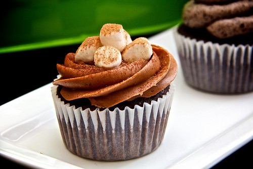 Marhsmallow Mexican Hot Chocolate Cupcakes