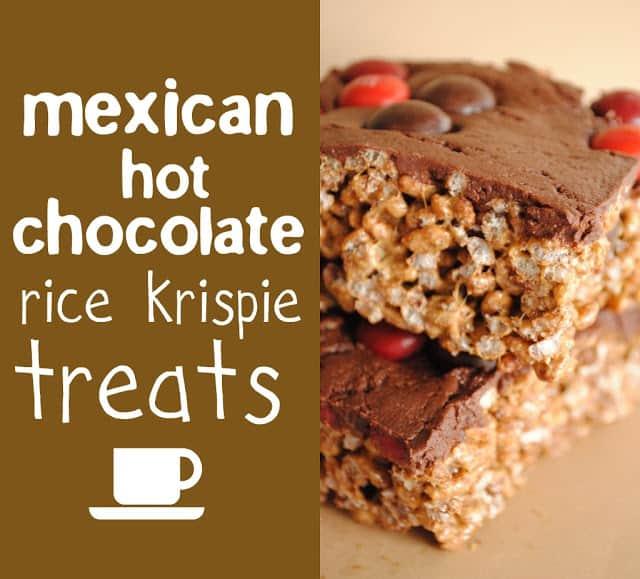 Mexican Hot Chocolate Krispie Treats