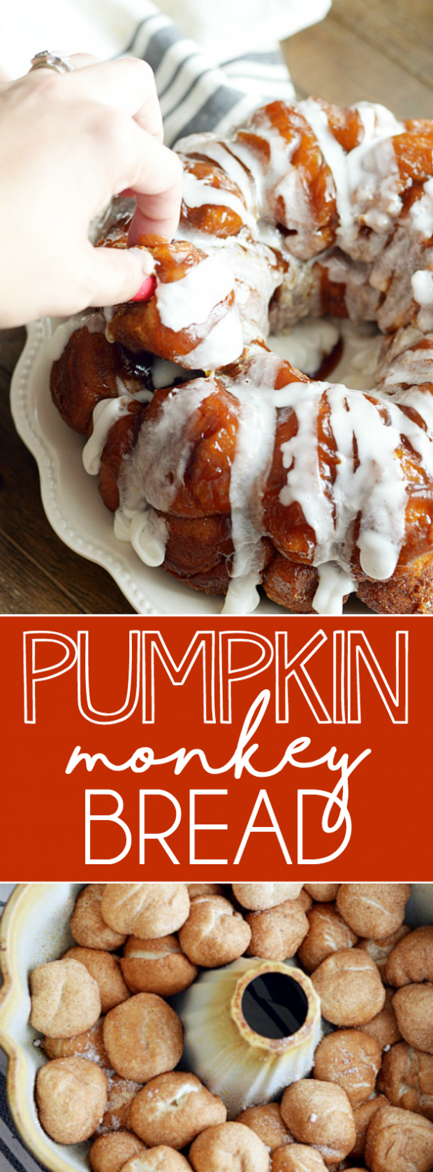 This easy pumpkin monkey bread melts in your mouth and is an instant crowd pleaser!