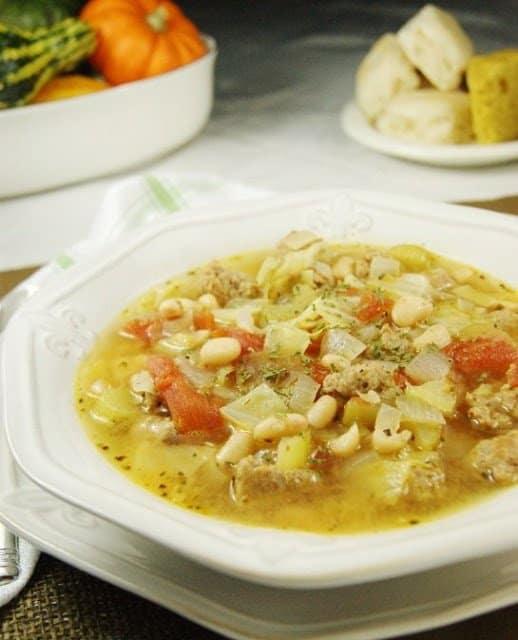 White Bean Sausage Soup 1