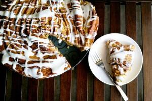 Giant Pumpkin Cinnamon Roll Cake Recipe Main
