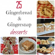 25 Gingerbread Desserts #christmas #dessert #recipes