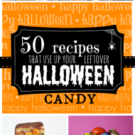 50 Recipes to use up your Leftover Halloween Candy   www.somethingswanky.com