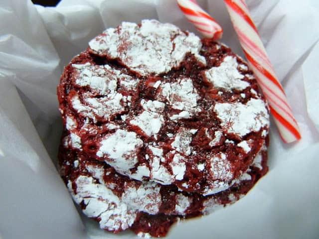 Red Velvet Peppermint Crinkle Cookies 5