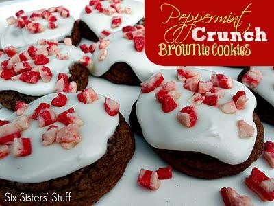 Peppermint Crunch Brownie Bites Recipe — Dishmaps