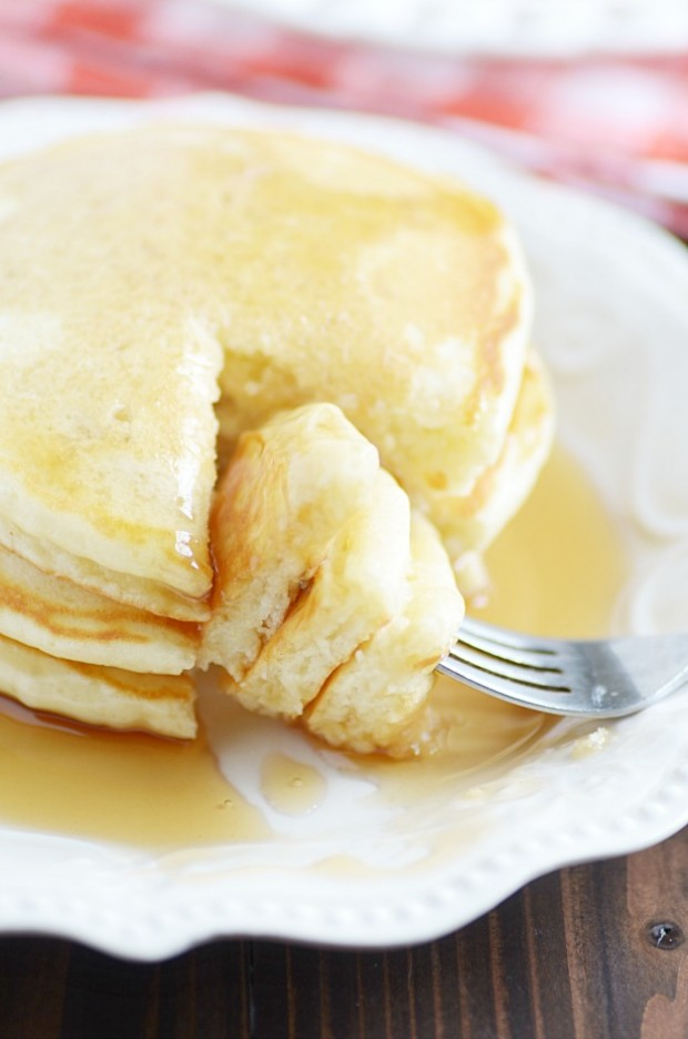 This homemade pancake mix is easier to make than going to the store and buying a box! It keeps for months and makes fluffy, delicious, homemade pancakes.