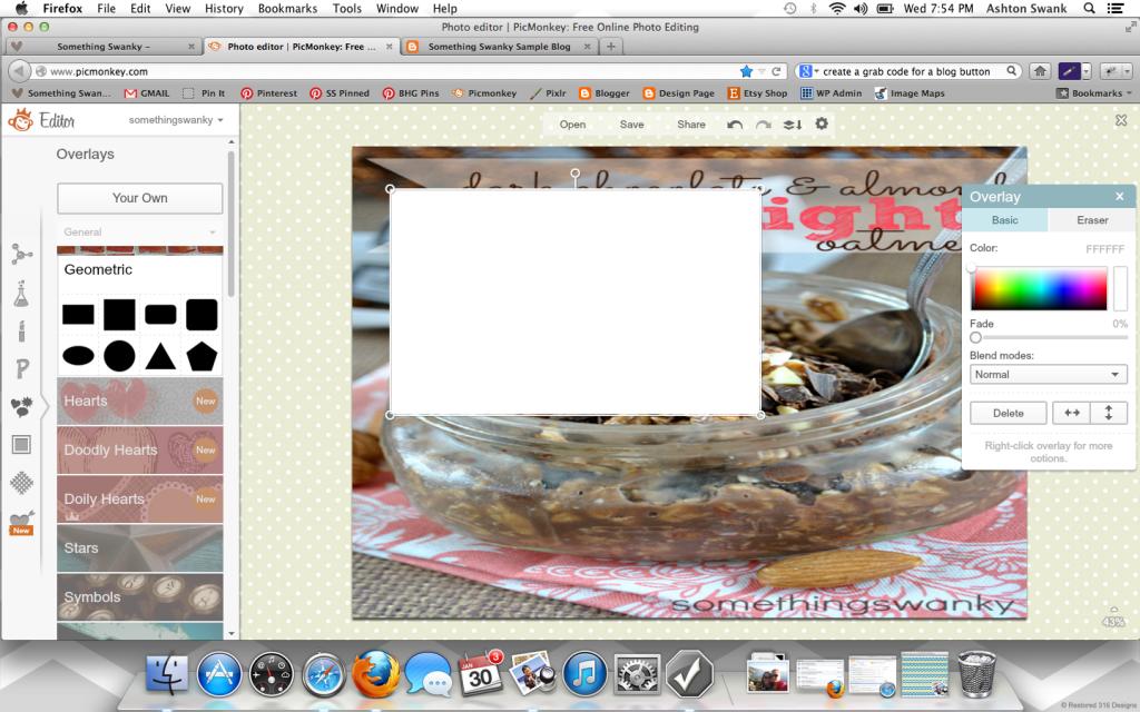Create a Custom Blog Background using #picmonkey