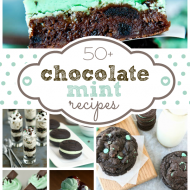 Over 50 of the BEST #Chocolate #Mint #Recipes from your favorite bloggers! From cookies to ice cream to gluten free-- it's all here! www.somethingswanky.com