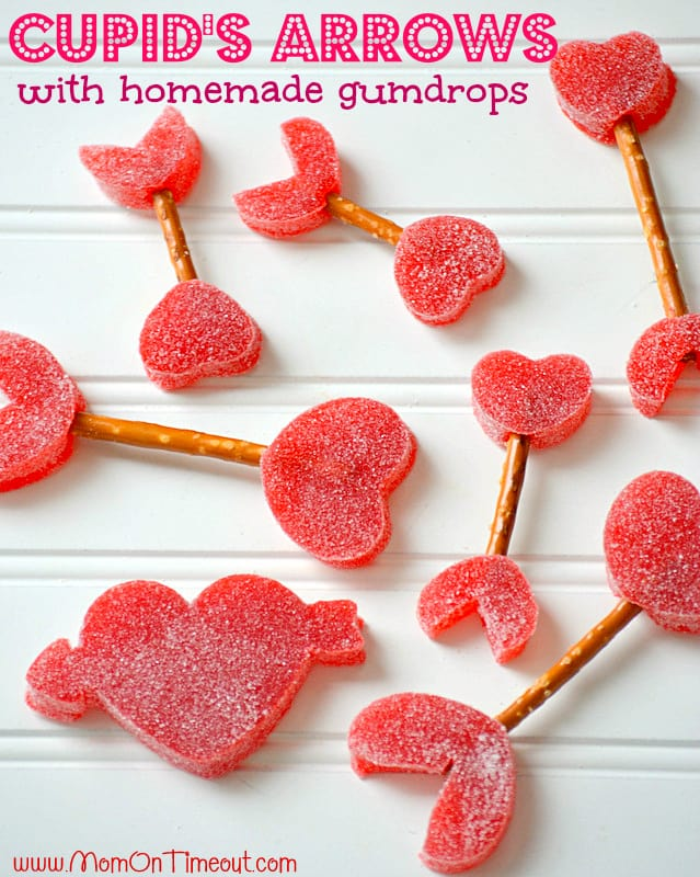 Cupids-Arrows-with-pretzels-and-gumdrops