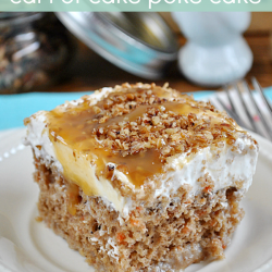 Better Than #Easter... #Carrot #Cake #Poke Cake from www.somethingswanky.com | This is seriously SO yum!