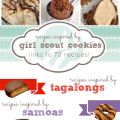 Recipes Inspired by Girl Scout Cookies at www.somethingswanky.com | over 70 links to recipes! #samoas #tagalongs #thinmints