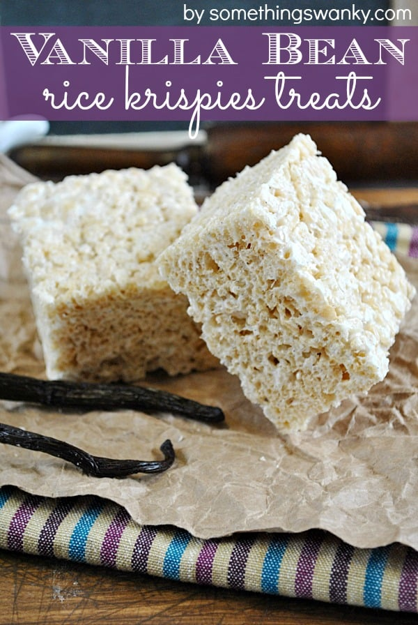 #Vanilla Bean Rice #Krispies Treats on www.somethingswanky.com Everything is better with vanilla bean!
