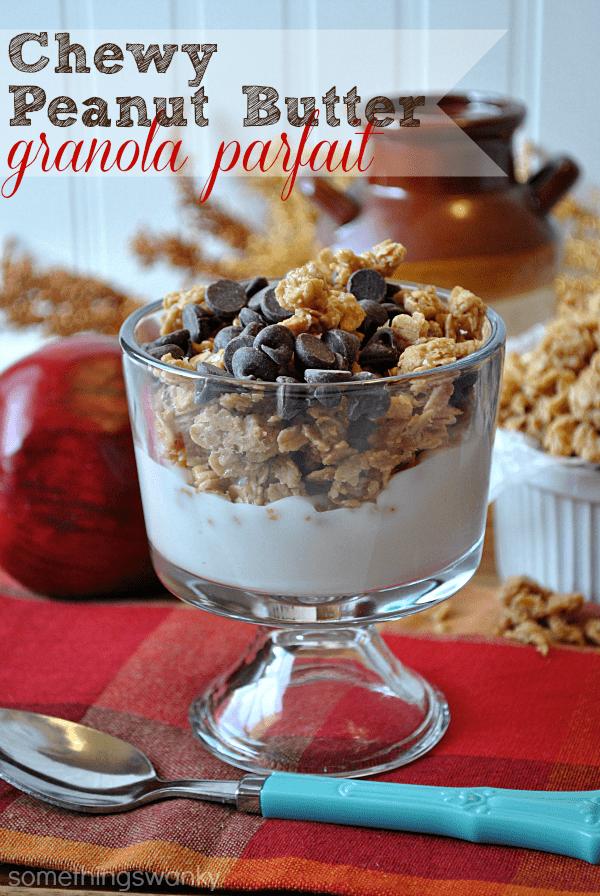 http://www.somethingswanky.com/chewy-peanut-butter-granola-parfait/
