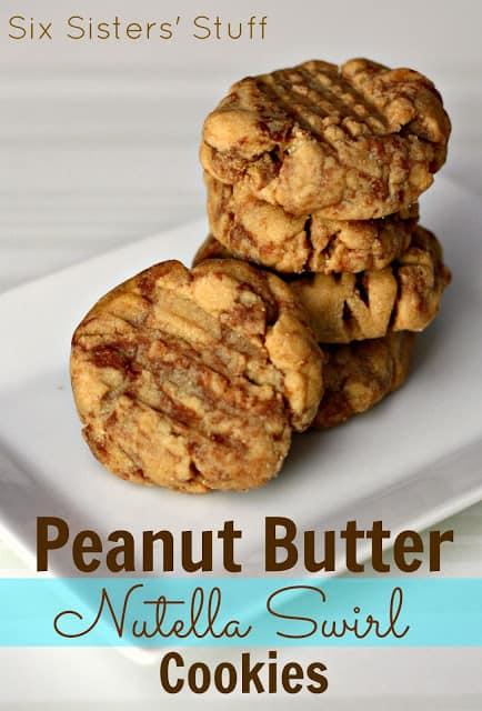 Peanut Butter Nutella Swirl Cookies