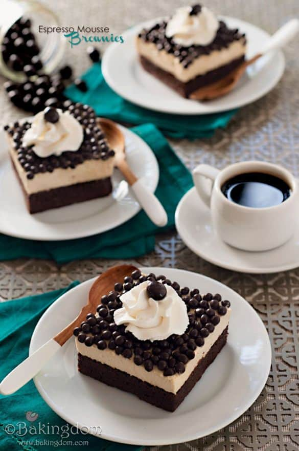 espresso mousse brownies