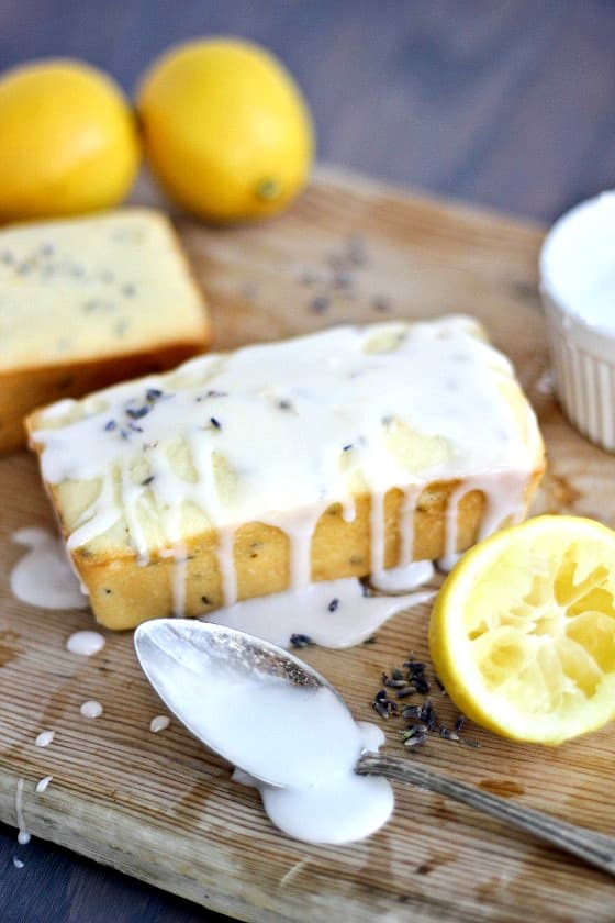 lemon-lavender greek yogurt pound cake