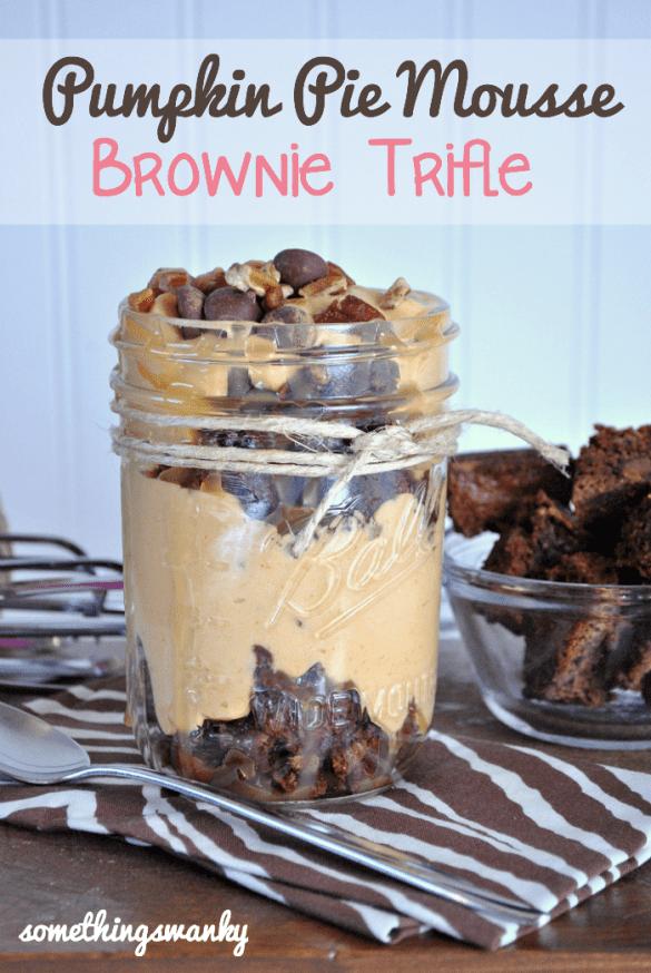 pumpkin pie mousse brownie trifle