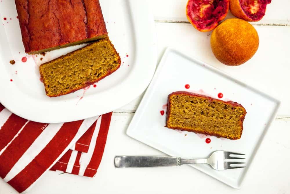 saffron blood orange pound cake