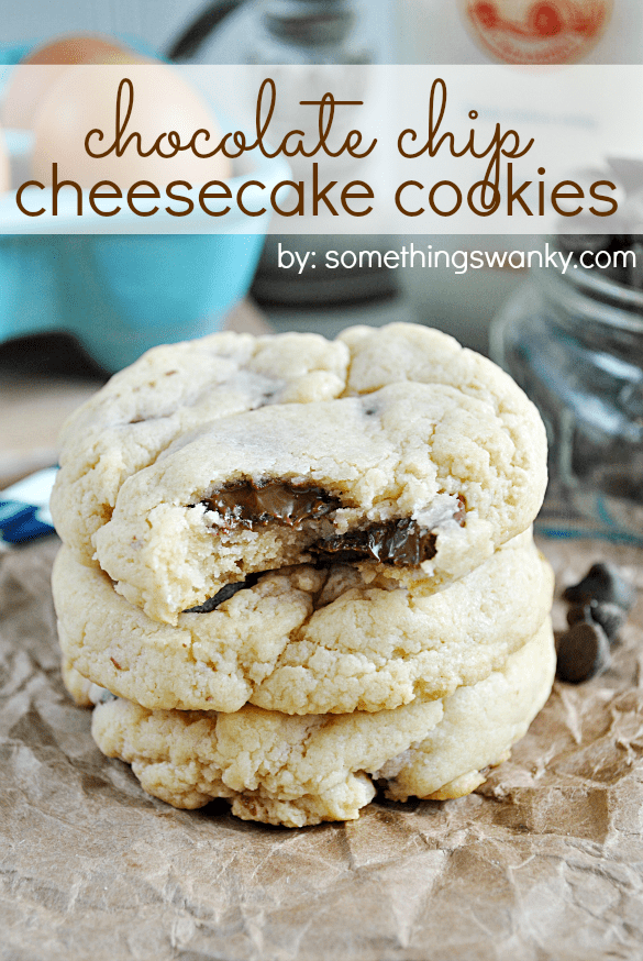 Chocolate Chip Cheesecake Cookies | www.somethingswanky.com