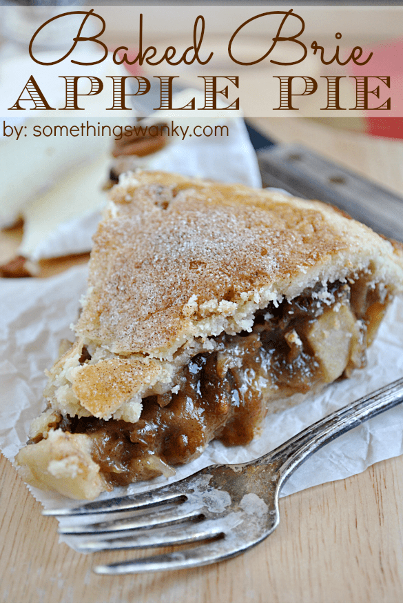 Baked Brie Apple Pie | www.somethingswanky.com