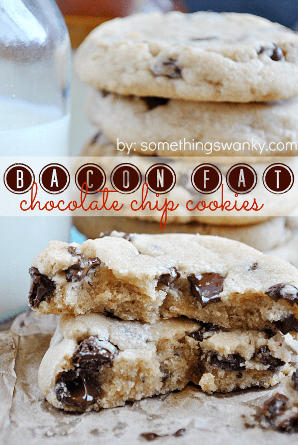 Bacon Fat Chocolate Chip Cookies | www.somethingswanky.com