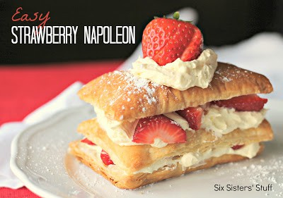 Easy Strawberry Napoleon with text
