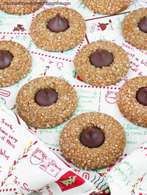 Gingerbread-Kiss-Cookies