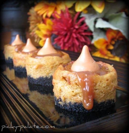 black bottoms cheesecake bites