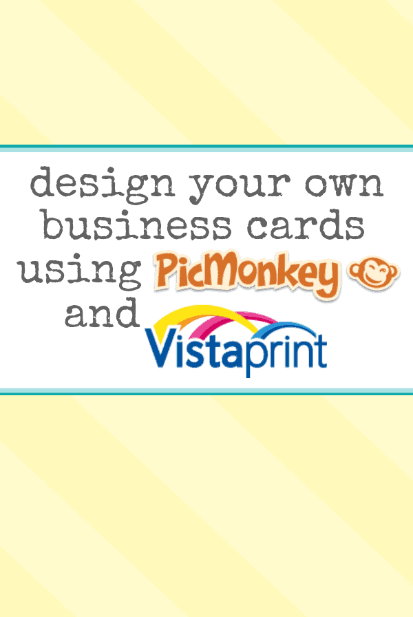 Design your own business cards using picmonkey and vista for Where can i get business cards printed same day