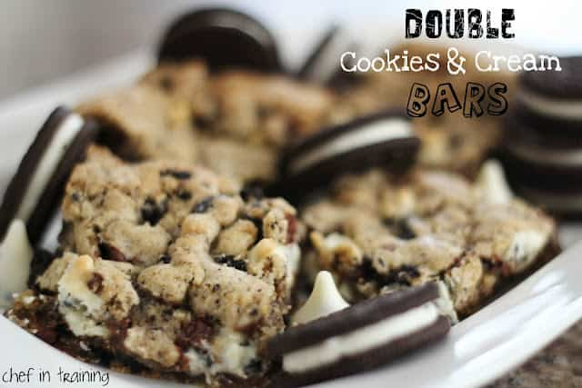 doublel cookies and cream bars