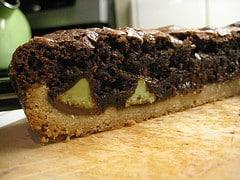 shortbread crust truffle brownids