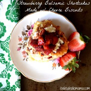 strawberry balsamic shortcakes