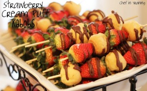 strawberry cream puff kabobs