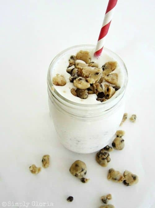 Cookie Dough Vanilla Milkshake