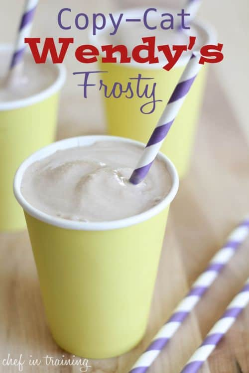 Copy-Cat Wendy's Frosty