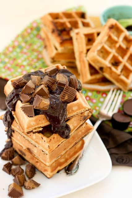 Reese's Peanut Butter & Chocolate Waffles-4