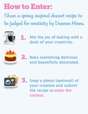Bake Contest to win a trip to visit the Duncan Hines test Kitchen!