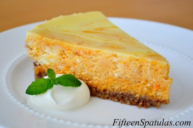 Sweet Potato Swirled Cheesecake with Pecan Crust