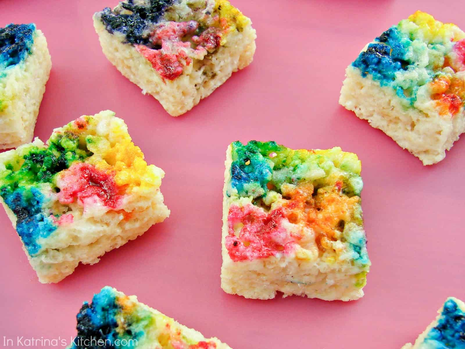 Tie Dye Krispie Treats In Katrinas Kitchen 013wm